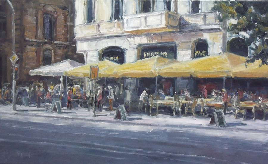 Cafe in der Oranienburger Str 60x100cm
