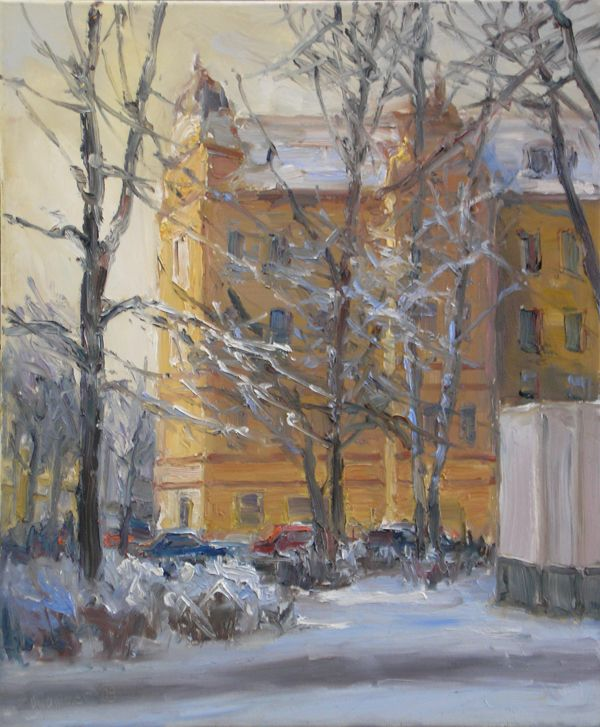 Winter am Buddeplatz 60x50cm