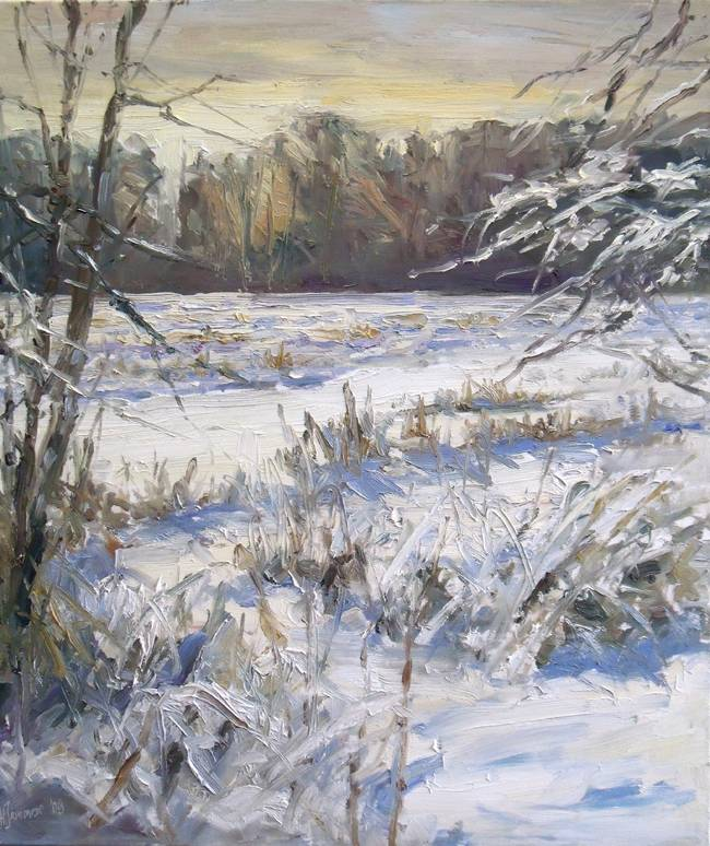 Winter am Tegeler Fliess 70x60cm